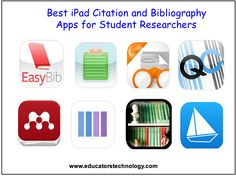 The Best Citation and Bibliography Apps for Student Researchers and Academics ~ Educational Technology and Mobile Learning