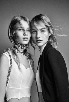 balenciwanga:  Maartje Verhoef andSofia Mechetner in Dior Spring 2016 campaign photographed byPatrick Demarchelier