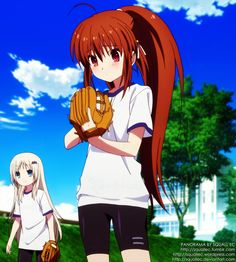 A panorama I made using shots from Little Busters! EX episode 2.