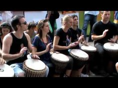 (The Rhythm Studio African Djembe Drumming Group) Learn more technique & join a drumming circle...