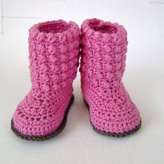 CROCHET PATTERN Baby Booties with Bubble Stitch от matildasmeadow