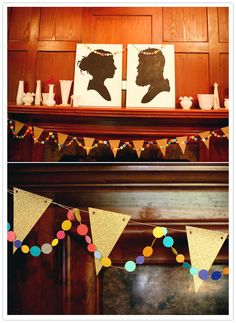 @Hannah Stahlhut - we could do your silhouettes on canvas for decorating the reception - and then you can use it to decorate your apartment after!