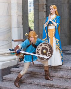 Breath of the Wild Link and Zelda cosplays