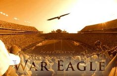 Auburn University Tigers soaring War Eagle - there is nothing more majestic than this moment Football War, Football Themes, College Football Teams, Football Season, Sports Teams, Auburn Football Stadium, Collage Football, Football Decor, Auburn Tigers