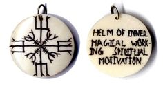 "Helm of Inner Magical Working, Spiritual Motivation, Hand Carved Bone 1 1/4"" - Pinned by The Mystic's Emporium on Etsy"