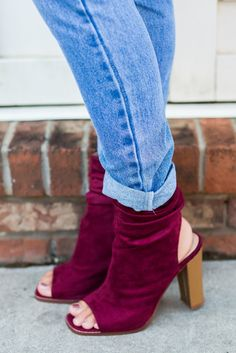The Kristin Open Toe Booties – Swoon Boutique Swoon Boutique, Open Toe Booties, Wedge Flip Flops, Bootie Boots, Suede Booties, Fall Shoes, Leg Warmers, Wedge Heels, Going Out