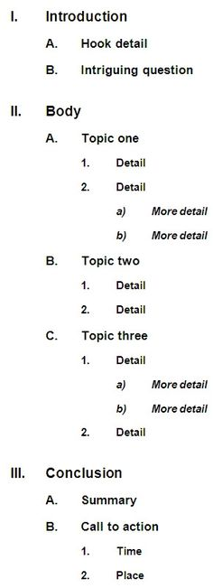 elementary research paper outline template Outline Format - DOC - apa outline template