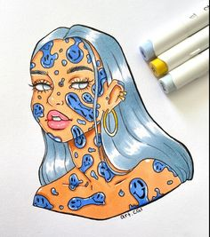 Pinner: Rinusfleur - Made by Chloe // art. Small Canvas Art, Mini Canvas Art, Art Drawings Sketches Simple, Pencil Art Drawings, Hippie Painting, Arte Sketchbook, Art Inspiration Drawing, Hippie Art, Cartoon Art Styles
