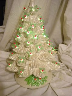 white ceramic christmas tree w lighted base find this pin and more on paint your own - Paint Your Own Ceramic Christmas Decorations