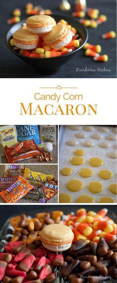 Candy Corn Macaron