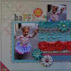trim and layers, scrapbook layout