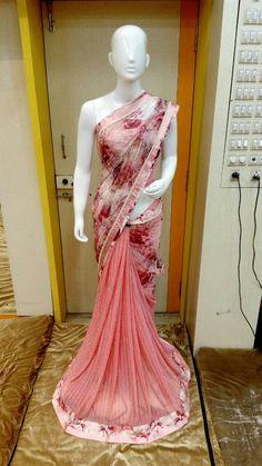 Pretty Pinkish saree