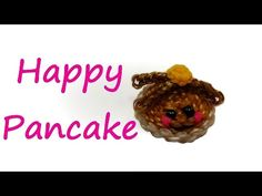 nice Happy Pancake Tutorial by feelinspiffy (Rainbow Loom) Rainbow Loom Tutorials, Rainbow Loom Creations, Loom Band Charms, Loom Bands, Rubber Band Crafts, Rubber Bands, Happy Pancakes, Wonder Loom, Rainbow Loom Charms