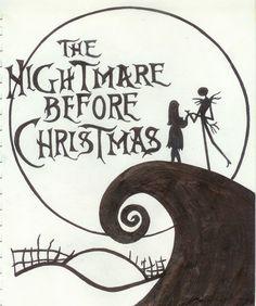 Quick Sketch of Scene from Nightmare before Christmas. | Halloween ...