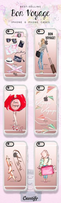 All time favourite iPhone 6 Bon Voyage collection protective phone case designs | Click through to see more iphone phone case ideas >>> https://www.casetify.com/collections/bon_voyage#/ #travel | @casetify
