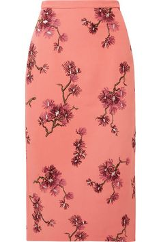 Maira embroidered crepe midi pencil skirt by Erdem Skirt Pants, Jacket Dress, Midi Skirt, Pencil Skirt Outfits, Pencil Skirts, Edie Parker Clutch, Skirts For Sale, Anna Wintour, Erdem