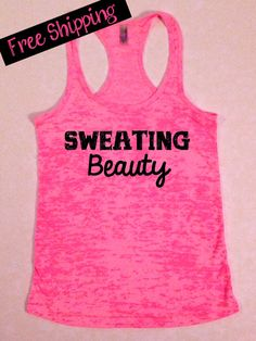 Sweating Beauty. Workout Tank. Crossfit Tank. by BlessonsApparel, $26.00