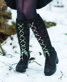 Knee Boots, Handicraft Ideas, Socks, Winter, Fashion, Winter Time, Moda, Fashion Styles, Knee Boot