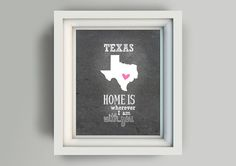 Printable Wall Art 8x10 Texas  Instant by WordsForeverSpoken, $5.00