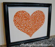 Pointille Heart Art | The Stonybrook House: Pointille Heart Art