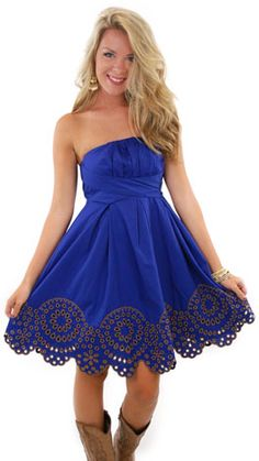 Something like this in Pink for the maids.  Mother Nature Dress, Blue :: NEW ARRIVALS :: The Blue Door Boutique