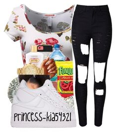 """""""*"""" by princess-kia54321 ❤ liked on Polyvore featuring NIKE, women's clothing, women, female, woman, misses and juniors"""