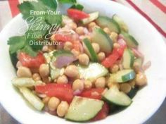 Chick Pea Salad   INGREDIENTS: 1 can of Chick Peas 1 small Red onion chopped... 1 Cucumber sliced and quartered 1 med tomato chopped seeds removed 2 Tbs Balsamic Vinegar 2 Tbs Red wine vinegar 1/2 tsp chopped garlic  DIRECTIONS: Mix all ingredients together in a bowl and serve! Makes Five servings.   ┊ ┊ ┊ ☆Find me here ---> www.facebook.com/stacey.p.folds ┊ ┊   ★Visit my web site ---> www.losewithskinnyfiber.com ┊   ☆Join my Group--> www.facebook.com/groups/staceyshealthyfriends ★Join my…