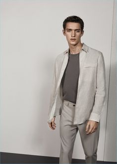 Mango Man Slim Fit Linen Shirt