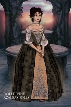 Claire Fraser wedding dress ~ by Gillian88 ~ created using the LotR Hobbit doll maker   DollDivine.com