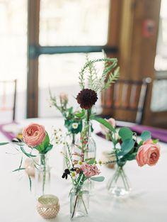 Denver Colorado Fine Art Floral Design - Wedding and Event Florist- Emma Lea Floral- Estes Park Wedding Vase Centerpieces, Bud Vases, Floral Wedding, Wedding Flowers, Bouquet Flowers, Wedding Bouquet, Bouquets, Burgundy And Blush Wedding, Dried Rose Petals