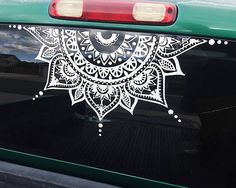 Mandala Car Decal Car Decal Mandala Sticker Half Circle