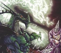 Nemesis the Warlock (and Torquemada) from the 2000AD comic. Artist: Bryan Talbot?