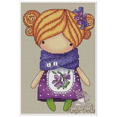 """#mika__mila_katya #magic__dolls #crossstitch #cross #stitches #stitch #вышивка #вышивкакрестом @magic__dolls  Wild Violet/Барвинок 65*95 stitch, DMC 20…"""