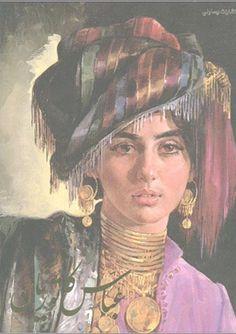 Persian Architecture, Arabian Art, Call Art, Painting Of Girl, African Art, Aesthetic Art, Art Girl, Art Drawings, Kurdistan