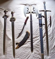 Weapons of Middle Earth pt 2 by phantomphreaq.deviantart.com on @DeviantArt