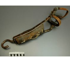 """ARM PROSTHESIS : """"Circa 1900-1950. An arm prosthesis fitted with hook or closed ring was more durable, and provided greater practical functionality for amputees than artificial limbs intended to mimic appearance of natural form. A hook was preferred by many because it allowed wearer to lift or carry, and to support a handle or shaft."""" (Source: Picture link)"""