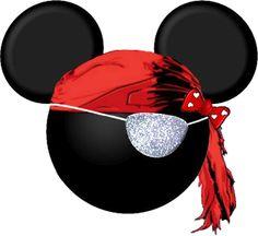 Imagens, Molduras e Rótulos para festa do Mickey Pirata!