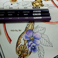 My selection of colours for the purple flower . ✔ Menuet de Bonheur by Kanoko…