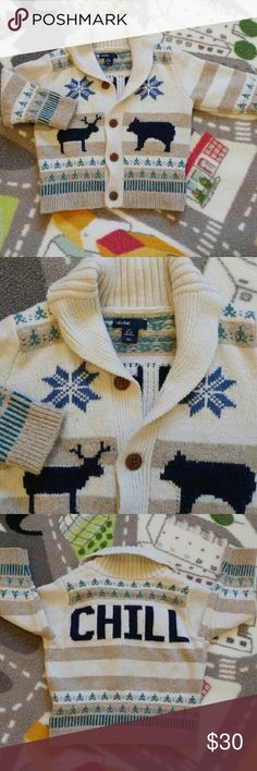 Baby gap 18-24months Shawl collar cotton/wool seasonal sweater. Size 18-24 months This sold out last season. EUC worn a few times. GAP Shirts & Tops Sweaters