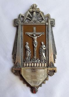 French holy water font bénitier Art Deco style by MaisonMaudie