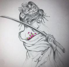 Japanese Tattoos 794463190498428795 - Tatouage geisha Source by Geisha Tattoos, Tatoo Geisha, Geisha Drawing, Geisha Tattoo Design, Irezumi Tattoos, Geisha Tattoo Sleeve, Samurai Drawing, Japanese Drawings, Japanese Tattoo Art