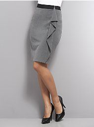 New York & Company - Ruffle Panel City Double Stretch Pencil Skirt
