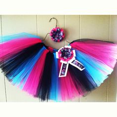Monster High tutu and hair bow by MrsBeesGifts on Etsy, $18.00