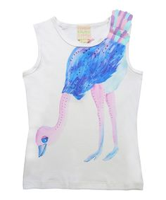 Look at this White Ostrich Dance Tank - Toddler & Girls on #zulily today!