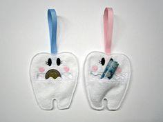 Pochette de fée des dents / pochette dent de garçons / pochette dent les filles de la boutique CreationsCoccibelle sur Etsy