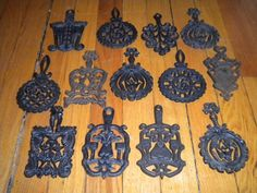 Vintage Cast Iron Collection of Wilton Trivets, Set of Thirteen