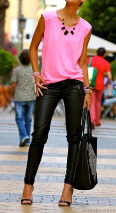 fashforfashion -♛ STYLE INSPIRATIONS♛ Beautiful colors together, what shade do you call that pink?