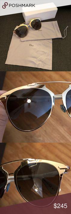 818c0149bb36 Dior Reflected Sunglasses Dior Reflected Sunglasses in Gold and White EUC  Sunglasses (