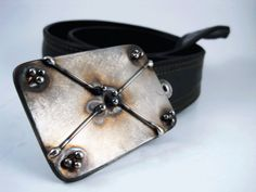 Four in the Corners Belt Buckle  Welded Stainless by RhythmicMetal, $60.00