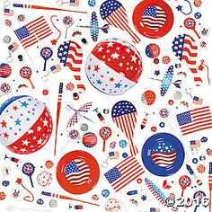 Everything you need for your patriotic party in one huge assortment! This of July party favor assortment includes foam gliders, spin tops, pins, balls, . Patriotic Party, 4th Of July Party, Fourth Of July, Fireworks Background, All Toys, Third Birthday, School Gifts, Oriental Trading, Scrapbook Stickers
